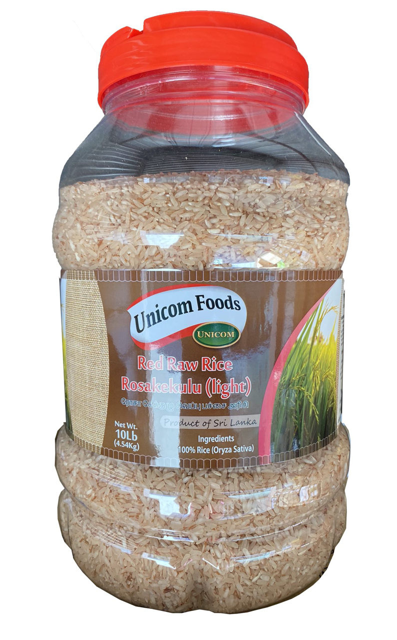 Picture of Unicom Red Raw Rice Rosakekulu (Light) 10Lbs Bottle